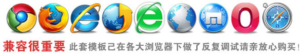 完美兼容 IE6/7/8/9/10/11、Firefox、Chrome、Opera、Safari、360浏览器等主流浏览器